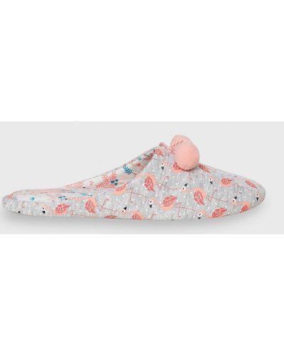 Розовые тапочки Etam