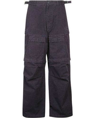 Niebieskie spodnie Balenciaga