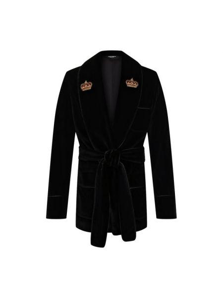 Шелковый пиджак с поясом свободного кроя Dolce & Gabbana