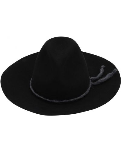 Czarny kapelusz oversize z wiskozy Superduper