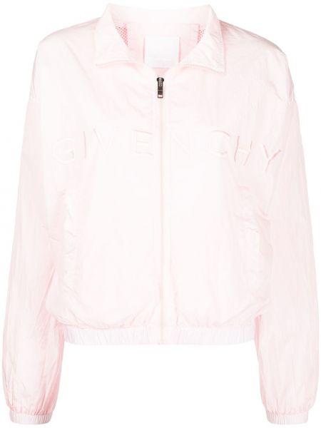 Kurtka z haftem - różowa Givenchy