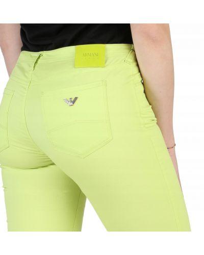 Spodnie rurki - zielone Armani Jeans