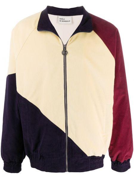 Czerwona długa kurtka bawełniana z długimi rękawami Drole De Monsieur