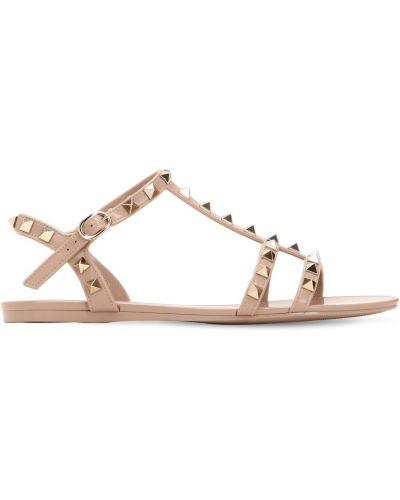 Кожаные сандалии - розовые Valentino Garavani