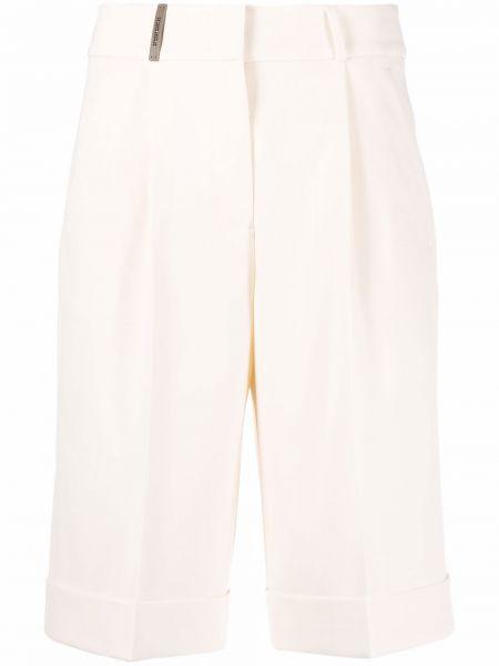 Белые шорты из эластана Peserico