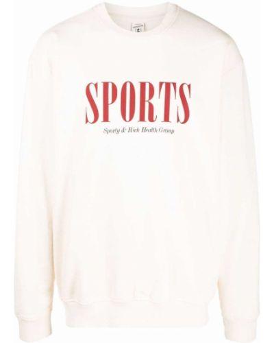 Хлопковый свитшот - белый Sporty And Rich