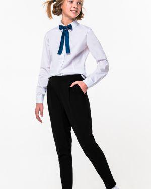 Школьные черные брюки на резинке Orby
