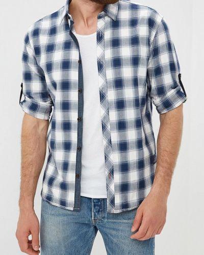 Синяя рубашка с длинным рукавом Tom Tailor