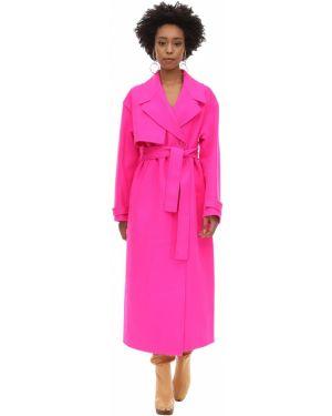 Różowy płaszcz wełniany z paskiem Jacquemus