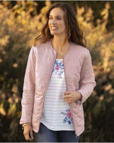 Розовая стеганая куртка на молнии Atlas For Men
