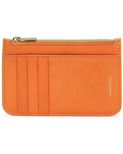 Оранжевая кожаная ключница Mansur Gavriel