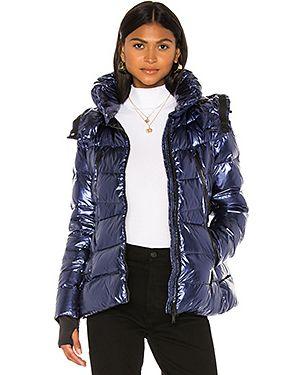 Куртка с капюшоном мятная с манжетами в рубчик Add