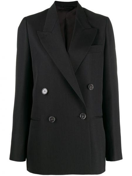 Черный классический пиджак с карманами с воротником Acne Studios