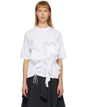 Koszula z krótkim rękawem biała z kołnierzem Enfold