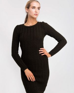 Клубное вязаное платье хаки Nataclub