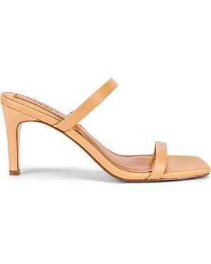 Pomarańczowe sandały skorzane Jaggar