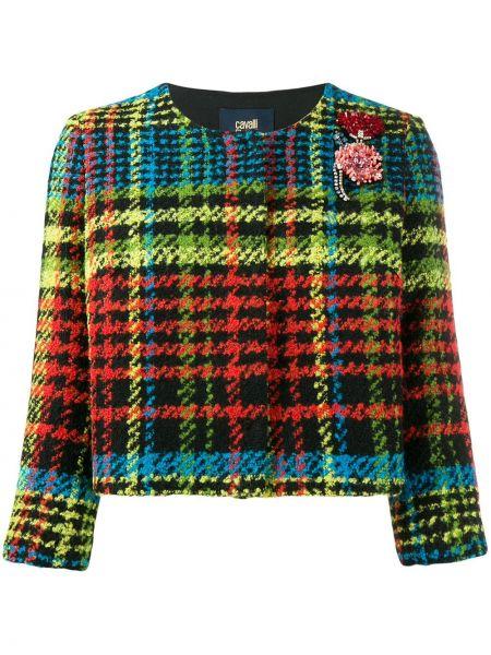 Прямой пиджак на пуговицах с рукавом 3/4 Cavalli Class