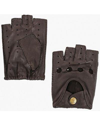 Кожаные перчатки митенки Eleganzza