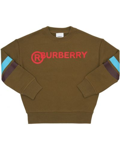 Bawełna bawełna zielony bluza wojskowy Burberry