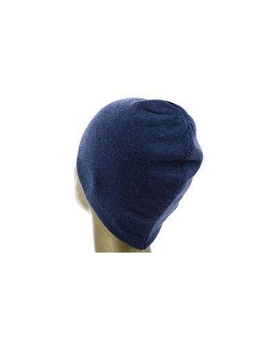 Синяя кашемировая шапка Not Shy