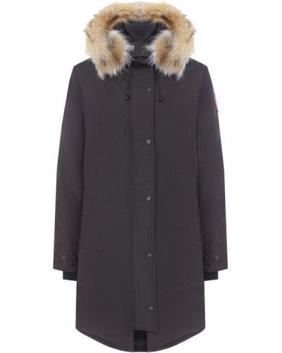 Куртка с капюшоном стеганая с перьями Canada Goose