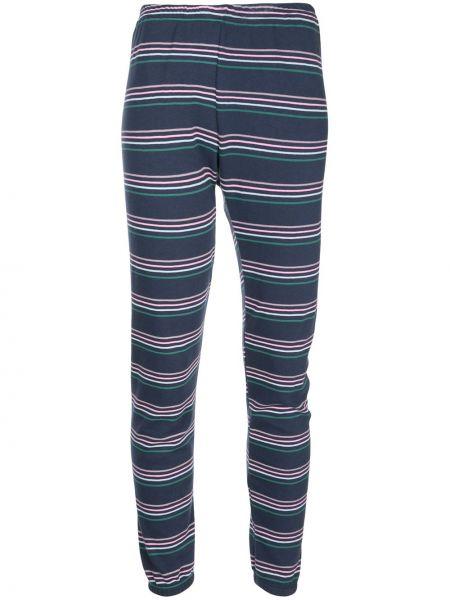Синие спортивные брюки с поясом с манжетами Wildfox