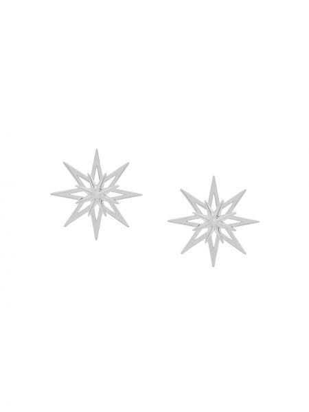 Серебряные серьги на кнопках Rachel Jackson