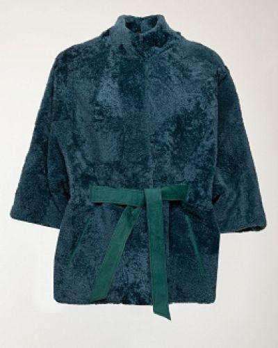 Куртка с мехом - зеленая Dzhanbekoff