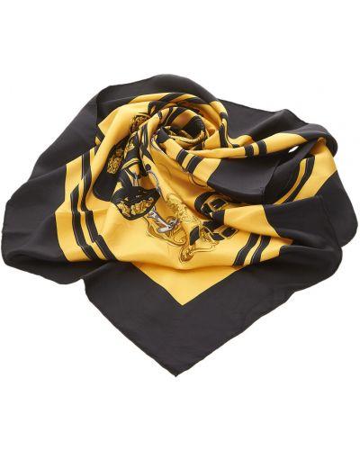 Żółty szalik z jedwabiu Hermès Vintage