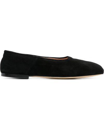 Кожаные балетки - черные Gia Couture