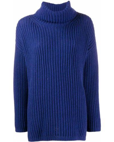Синий вязаный джемпер свободного кроя с воротником Incentive! Cashmere