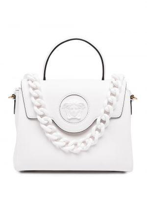 Белая кожаная косметичка Versace