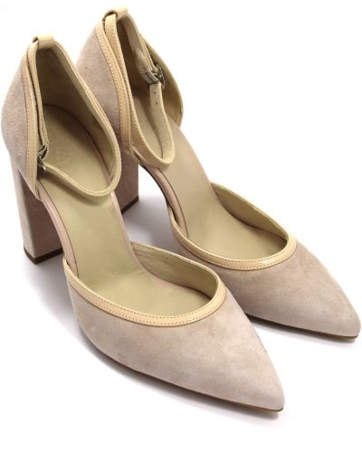Кожаные туфли - бежевые Zign