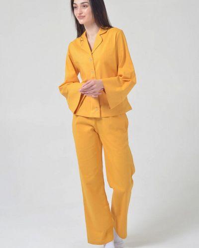 Пижамная желтая пижама Seven Mountains