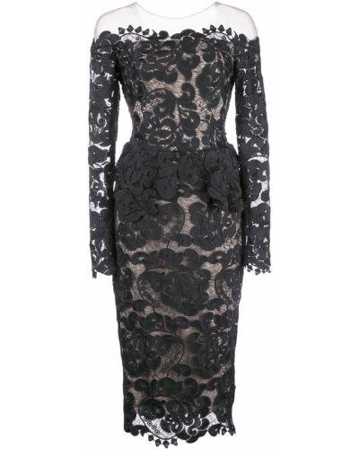Приталенное ажурное платье макси Nha Khanh
