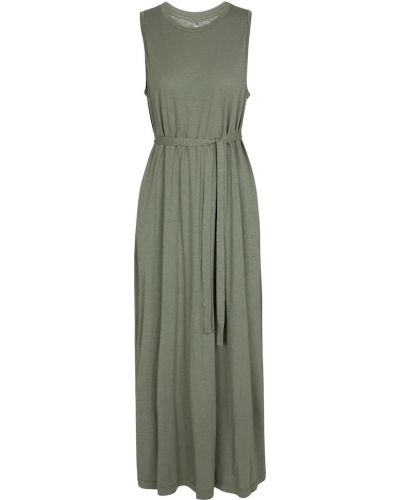 Трикотажное зеленое платье макси Velvet