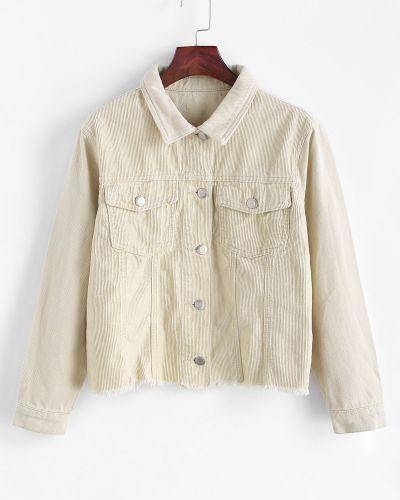 Джинсовая куртка - синяя Zaful
