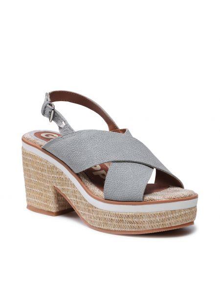 Sandały espadryle - niebieskie Gioseppo