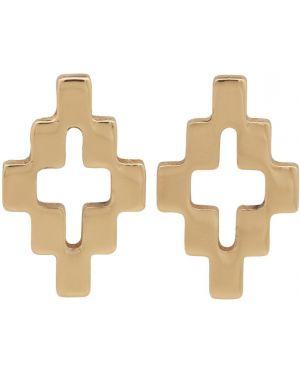 Kolczyki złoto z logo Marcelo Burlon County Of Milan