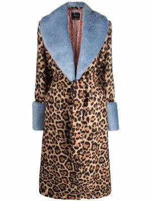 Шерстяное пальто - коричневое Blumarine