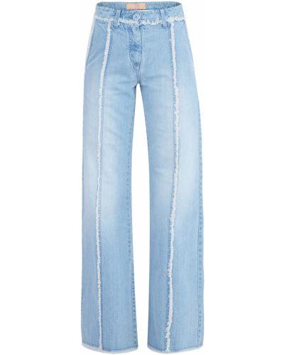 Расклешенные джинсы на пуговицах с карманами Blumarine
