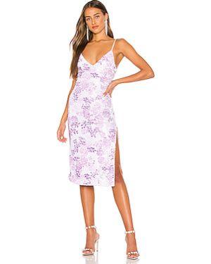Фиолетовое платье миди на бретелях на молнии с подкладкой H:ours