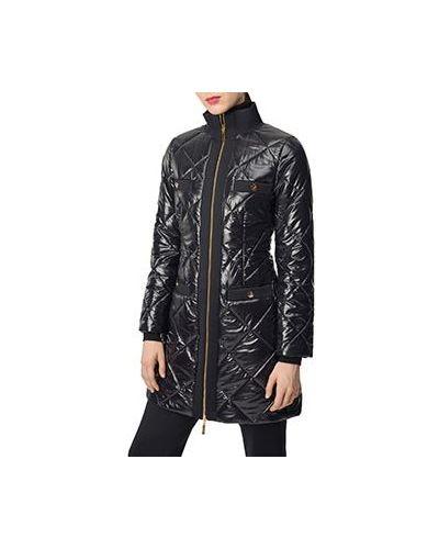 Черная кожаная куртка Luisa Spagnoli