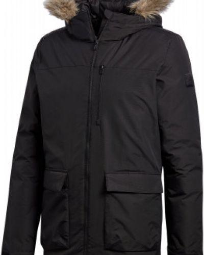 Зимняя куртка утепленная черная Adidas