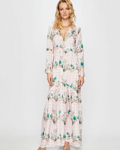 Платье макси прямое на пуговицах Glamorous