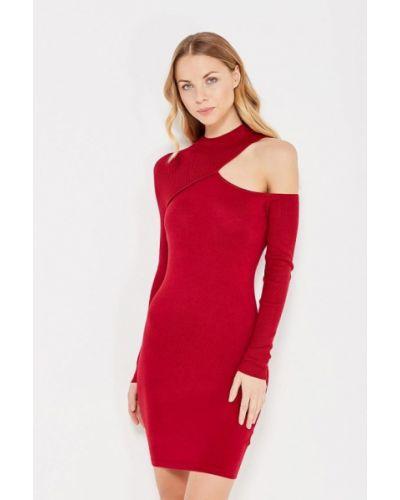Красное вязаное платье Lost Ink.