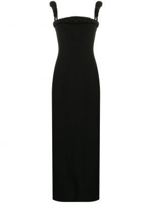 Шелковое черное платье квадратное Versace