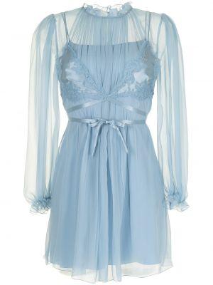 Шелковое платье макси - синее Alberta Ferretti