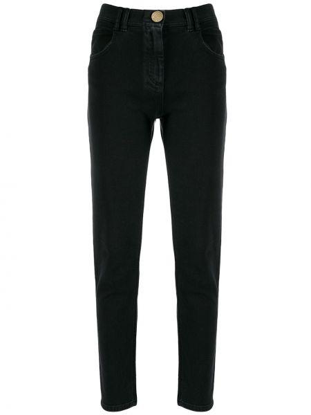 Черные джинсы на пуговицах Balmain