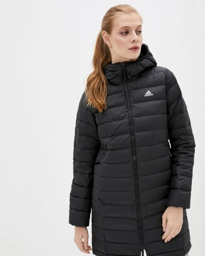 Черный пуховик Adidas